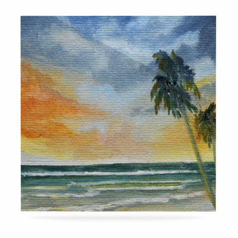 "Rosie Brown ""End of Day"" Beach Luxe Square Panel - KESS InHouse  - 1"