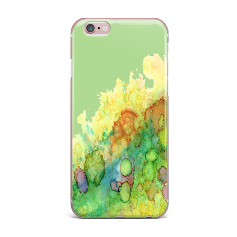 "Rosie Brown ""Sea Life"" Green Yellow iPhone Case - KESS InHouse"