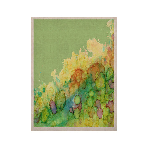 "Rosie Brown ""Sea Life"" Green Yellow KESS Naturals Canvas (Frame not Included) - KESS InHouse  - 1"