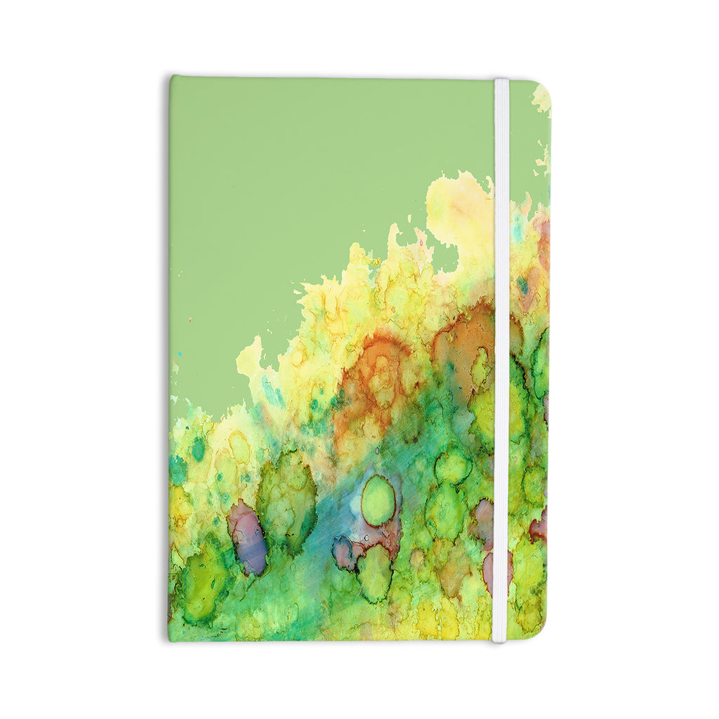 "Rosie Brown ""Sea Life"" Green Yellow Everything Notebook - KESS InHouse  - 1"