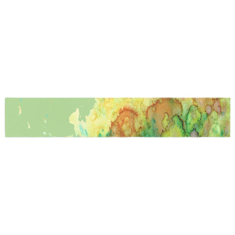 "Rosie Brown ""Sea Life"" Green Yellow Table Runner - KESS InHouse  - 1"