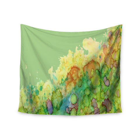 "Rosie Brown ""Sea Life"" Green Yellow Wall Tapestry - KESS InHouse  - 1"