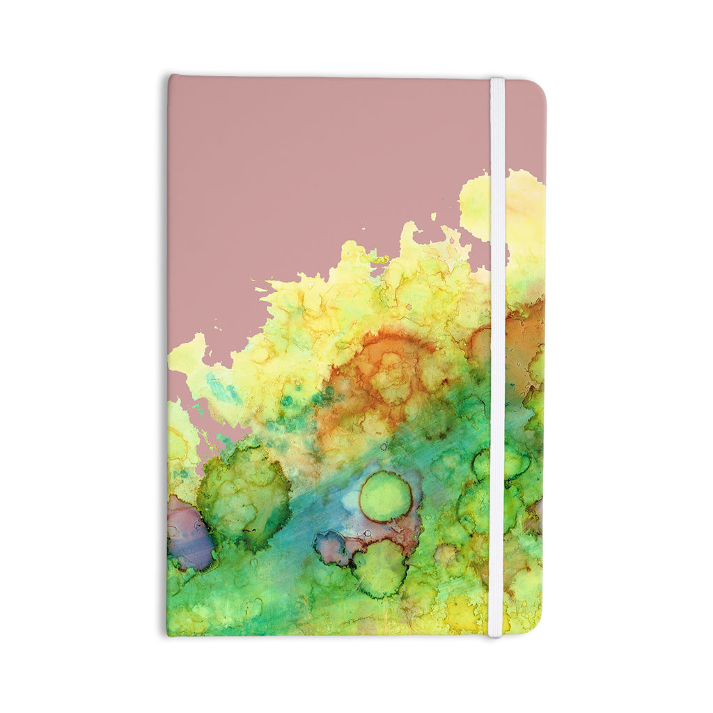 "Rosie Brown ""Sea Life III"" Green Pink Everything Notebook - KESS InHouse  - 1"