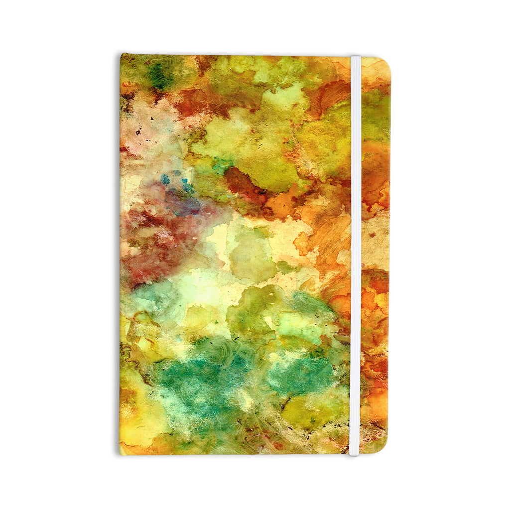 "Rosie Brown ""Fall Bouqet"" Yellow Orange Everything Notebook - KESS InHouse  - 1"