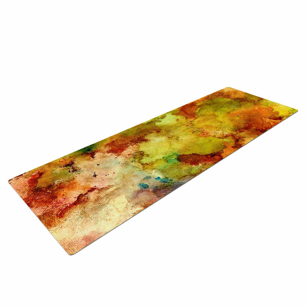 "Rosie Brown ""Fall Bouqet"" Yellow Orange Yoga Mat - KESS InHouse  - 1"
