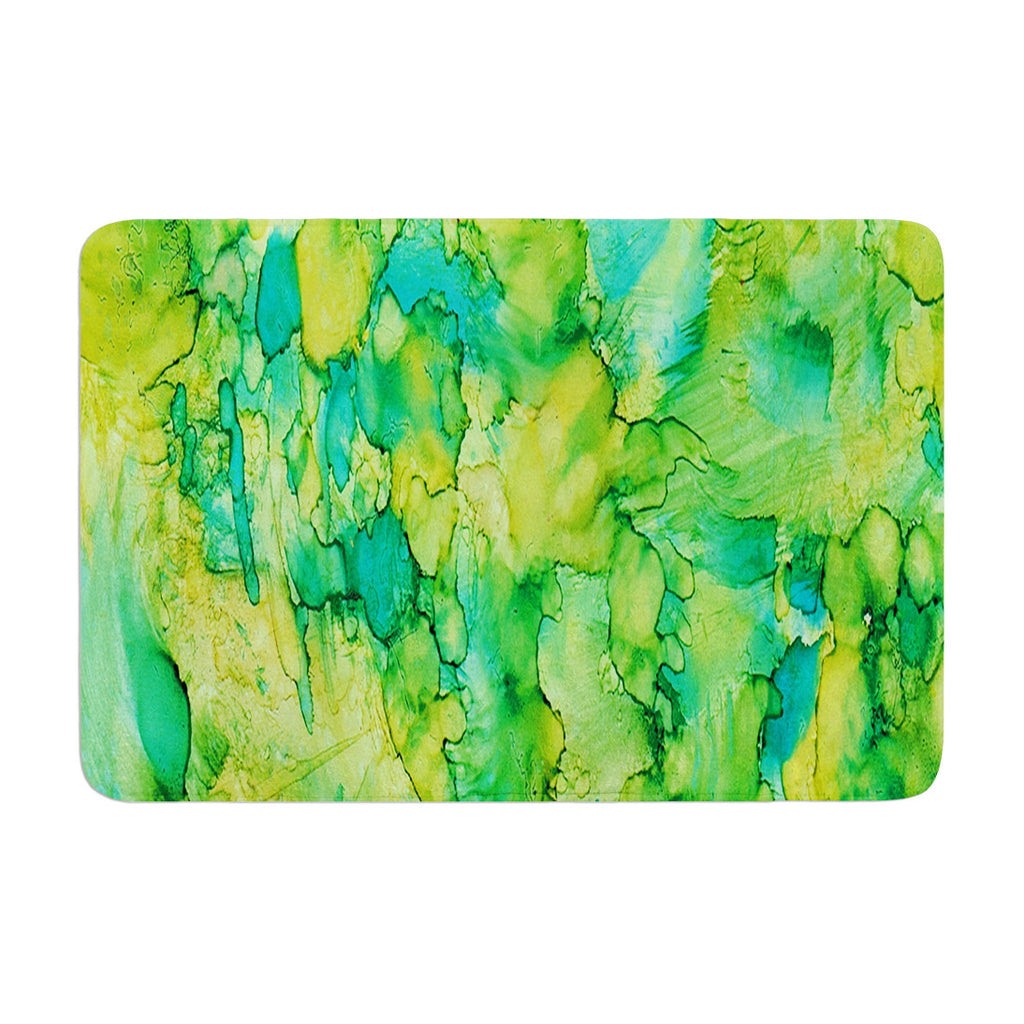 "Rosie Brown ""Going Green"" Emerald Memory Foam Bath Mat - KESS InHouse"