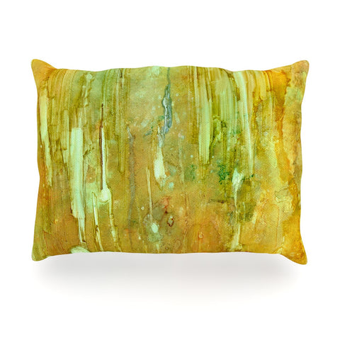 "Rosie Brown ""Rock City"" Yellow Painting Oblong Pillow - KESS InHouse"