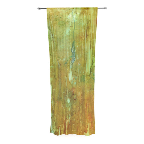 "Rosie Brown ""Rock City"" Yellow Painting Decorative Sheer Curtain - KESS InHouse  - 1"