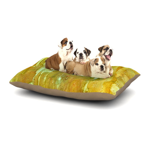 "Rosie Brown ""Rock City"" Yellow Painting Dog Bed - KESS InHouse  - 1"