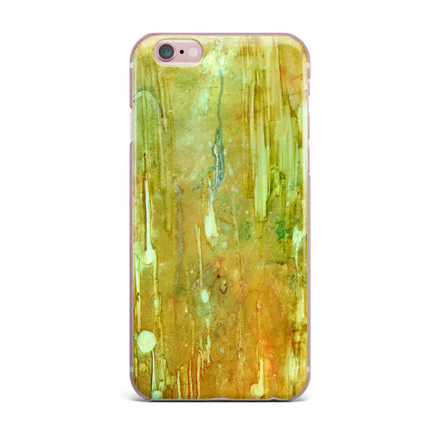 "Rosie Brown ""Rock City"" Yellow Painting iPhone Case - KESS InHouse"