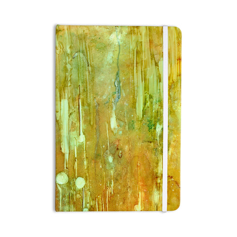 "Rosie Brown ""Rock City"" Yellow Painting Everything Notebook - KESS InHouse  - 1"