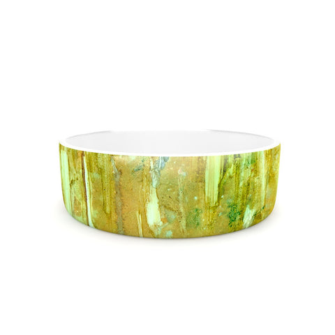 "Rosie Brown ""Rock City"" Yellow Painting Pet Bowl - KESS InHouse"