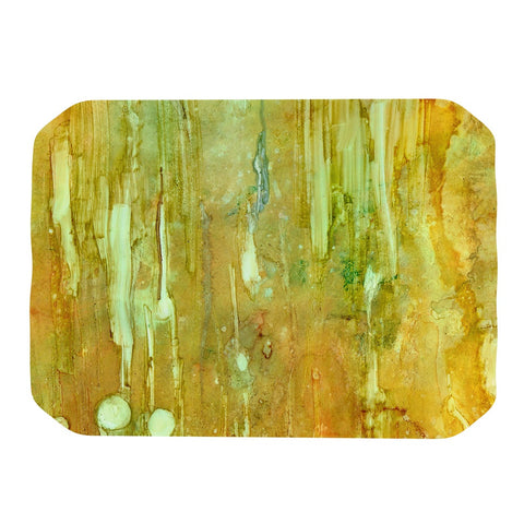 "Rosie Brown ""Rock City"" Yellow Painting Place Mat - KESS InHouse"