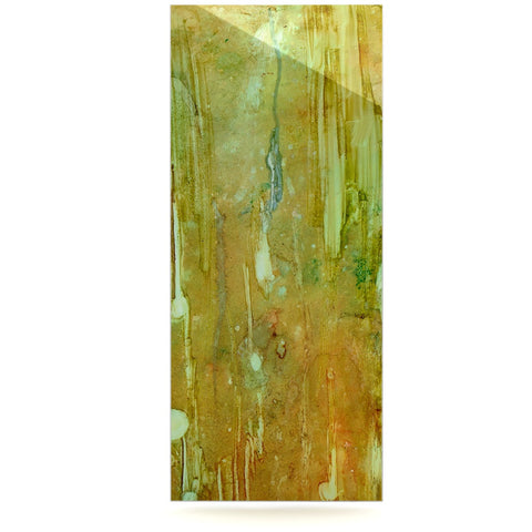 "Rosie Brown ""Rock City"" Yellow Painting Luxe Rectangle Panel - KESS InHouse  - 1"