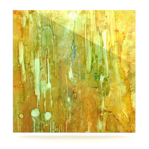 "Rosie Brown ""Rock City"" Yellow Painting Luxe Square Panel - KESS InHouse  - 1"