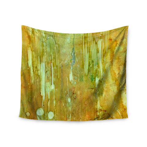 "Rosie Brown ""Rock City"" Yellow Painting Wall Tapestry - KESS InHouse  - 1"