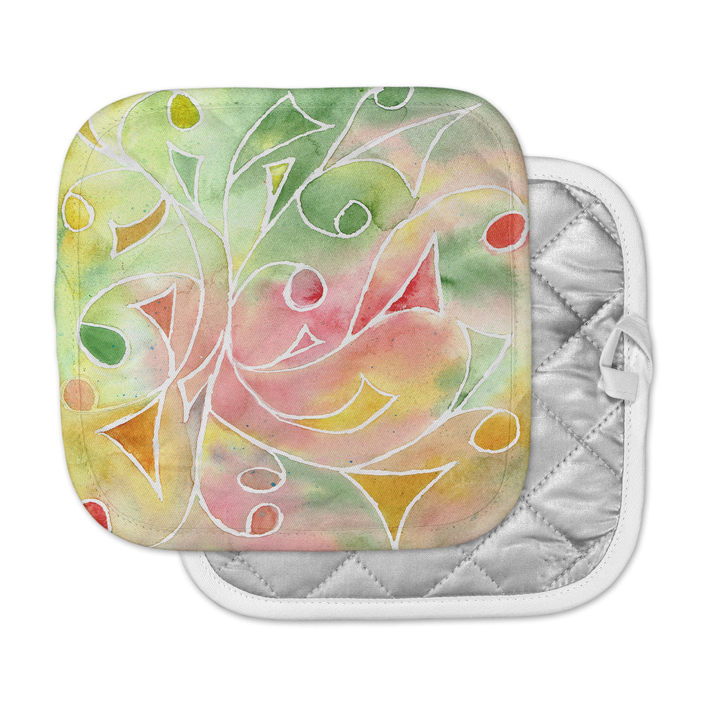 "Rosie Brown ""Gift Wrap"" Multicolor Pastel Pot Holder"