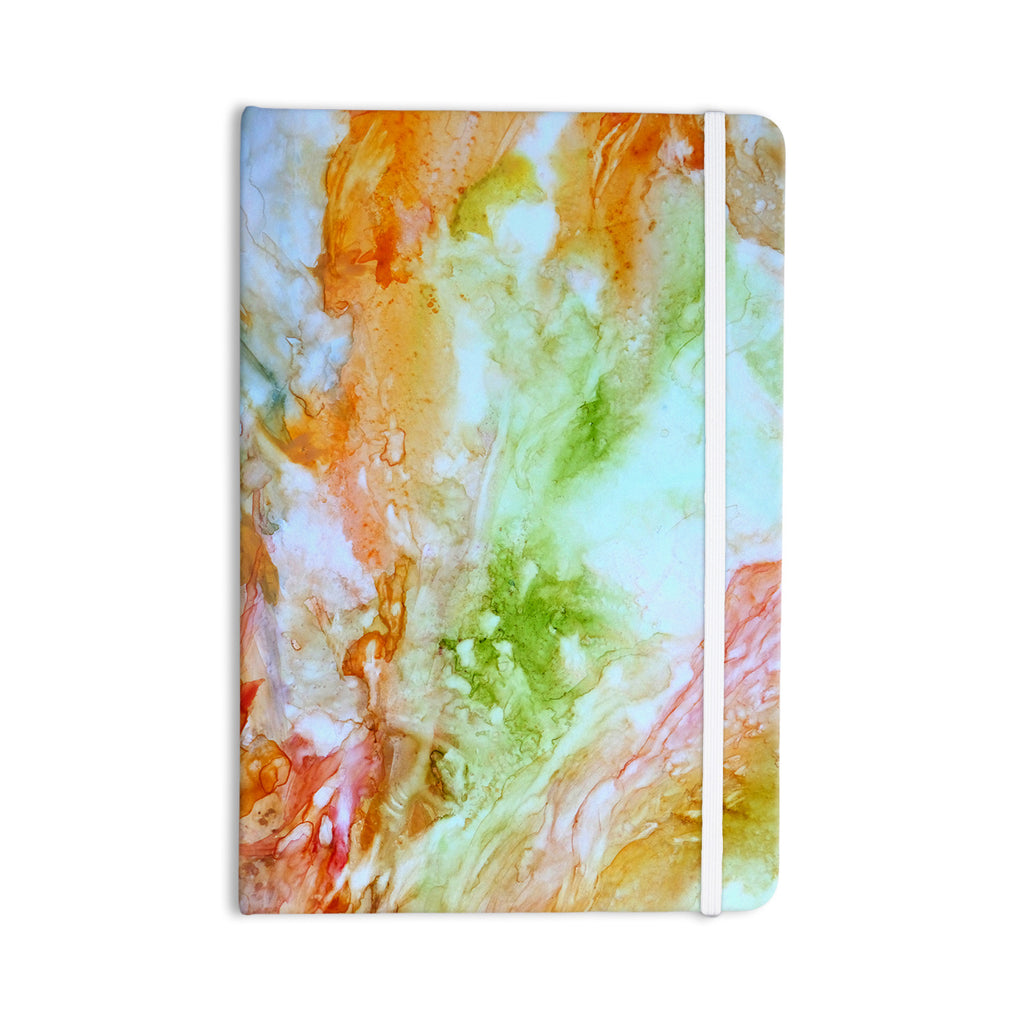 "Rosie Brown ""November Rain"" Green Orange Everything Notebook - KESS InHouse  - 1"