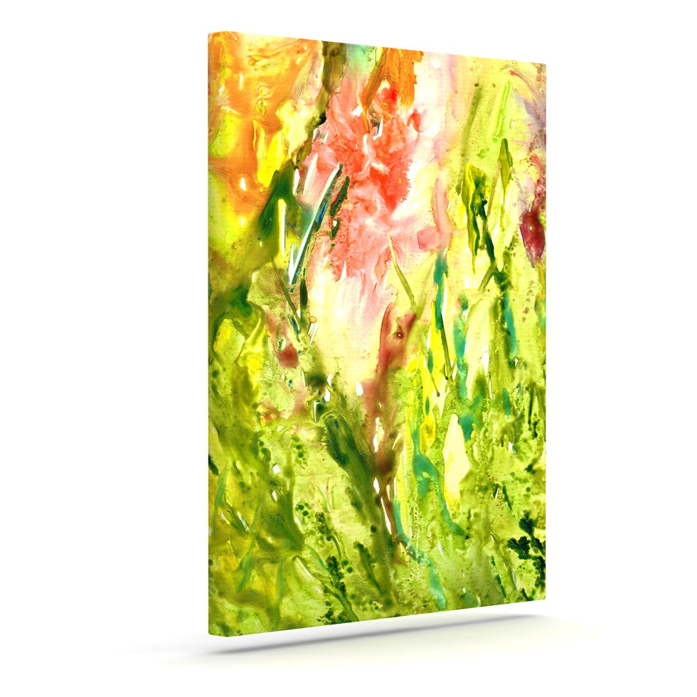 "Rosie Brown ""Green Thumb"" Paint Lime Canvas Art - KESS InHouse  - 1"