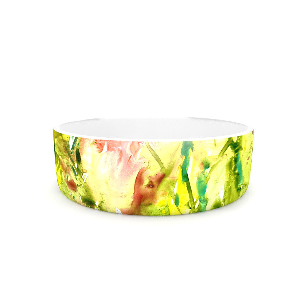 "Rosie Brown ""Green Thumb"" Paint Lime Pet Bowl - KESS InHouse"