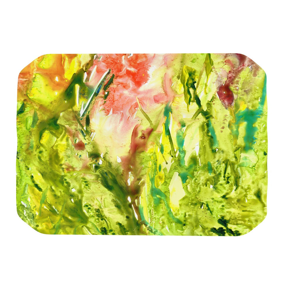 "Rosie Brown ""Green Thumb"" Paint Lime Place Mat - KESS InHouse"