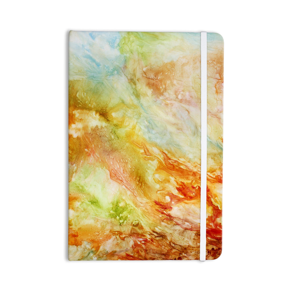 "Rosie Brown ""Autumn Breeze"" Orange Red Everything Notebook - KESS InHouse  - 1"