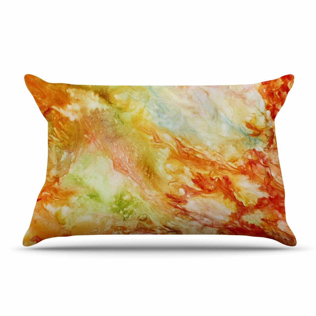 "Rosie Brown ""Autumn Breeze"" Orange Red Pillow Sham - KESS InHouse"