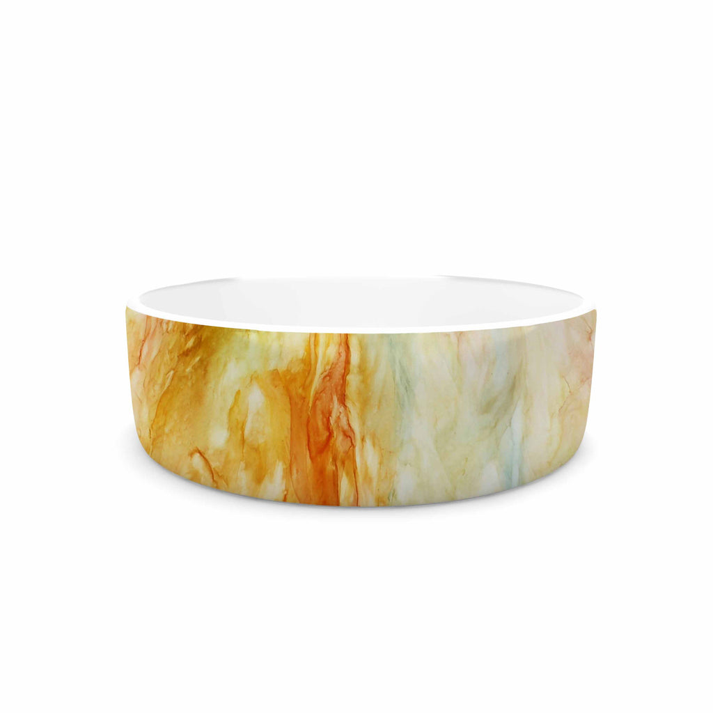 "Rosie Brown ""Autumn Breeze"" Orange Red Pet Bowl - KESS InHouse"