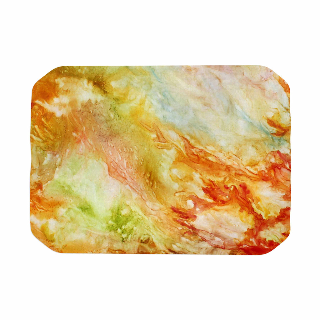 "Rosie Brown ""Autumn Breeze"" Orange Red Place Mat - KESS InHouse"