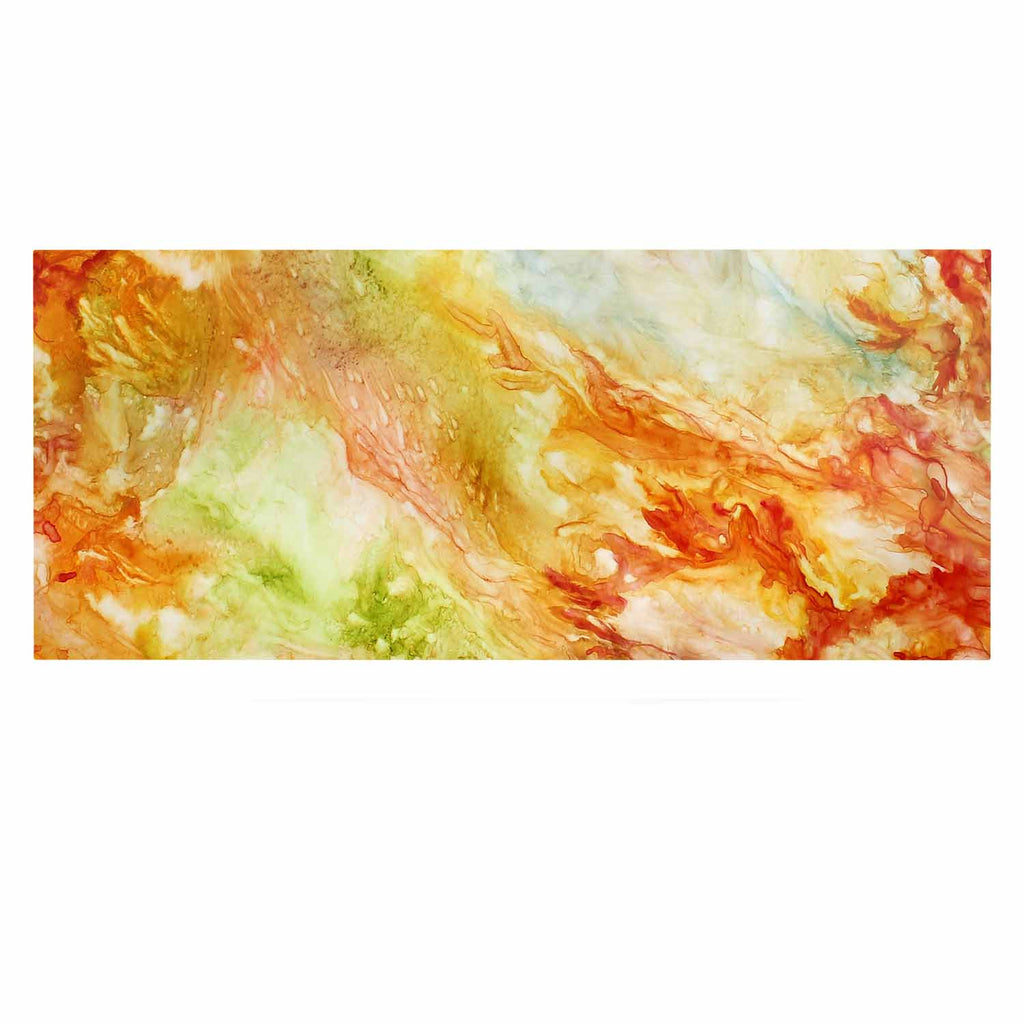 "Rosie Brown ""Autumn Breeze"" Orange Red Luxe Rectangle Panel - KESS InHouse  - 1"