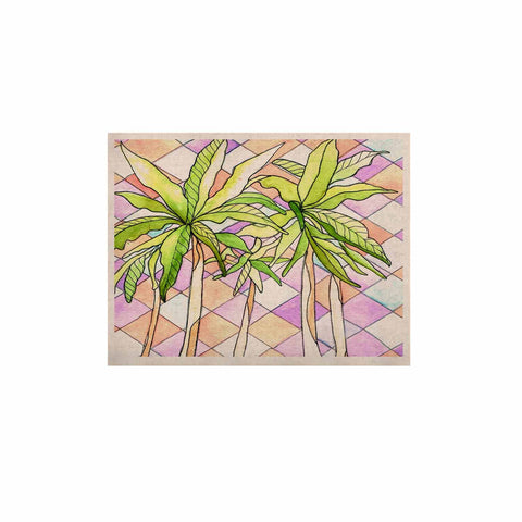 "Rosie Brown ""Geometric Tropic"" Pink Green KESS Naturals Canvas (Frame not Included) - KESS InHouse  - 1"