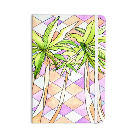 "Rosie Brown ""Geometric Tropic"" Pink Green Everything Notebook - KESS InHouse  - 1"