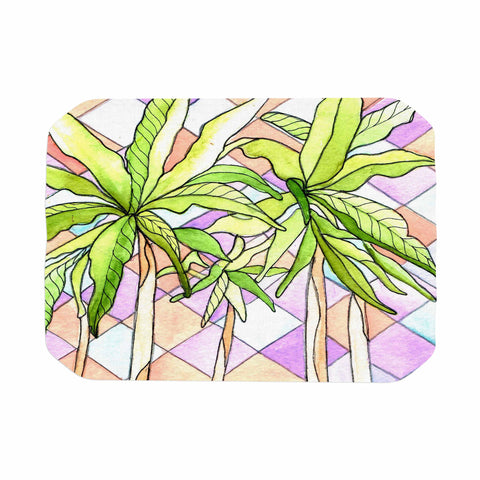 "Rosie Brown ""Geometric Tropic"" Pink Green Place Mat - KESS InHouse"