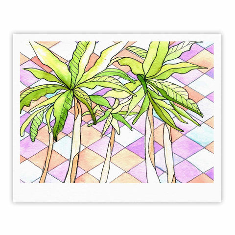 "Rosie Brown ""Geometric Tropic"" Pink Green Fine Art Gallery Print - KESS InHouse"