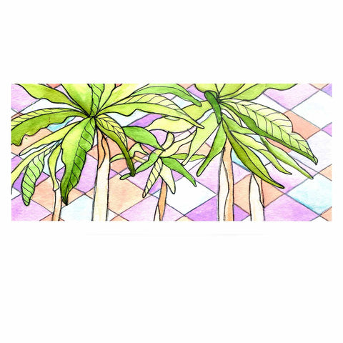 "Rosie Brown ""Geometric Tropic"" Pink Green Luxe Rectangle Panel - KESS InHouse  - 1"