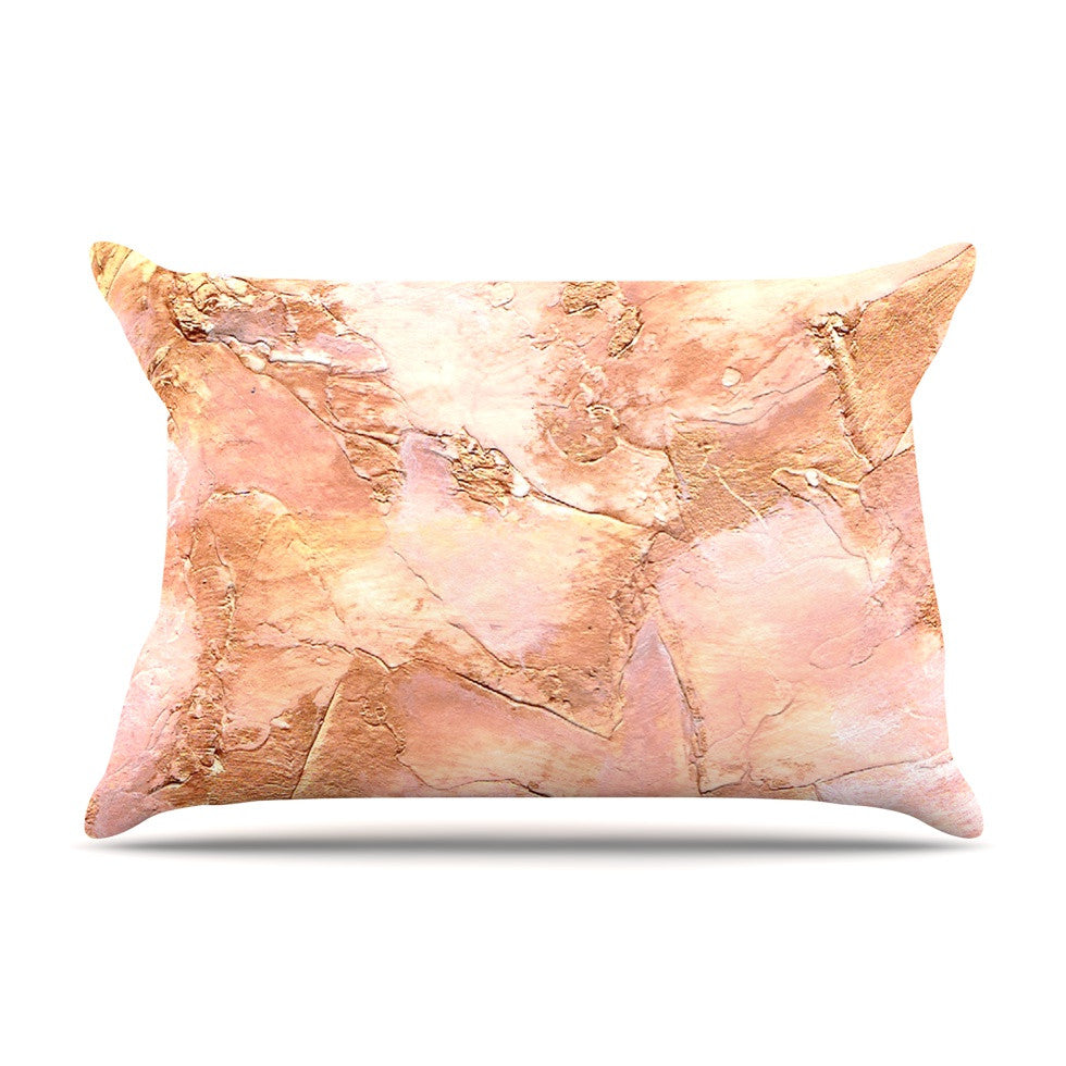 "Rosie Brown ""Bronze It"" Orange Paint Pillow Sham - KESS InHouse"