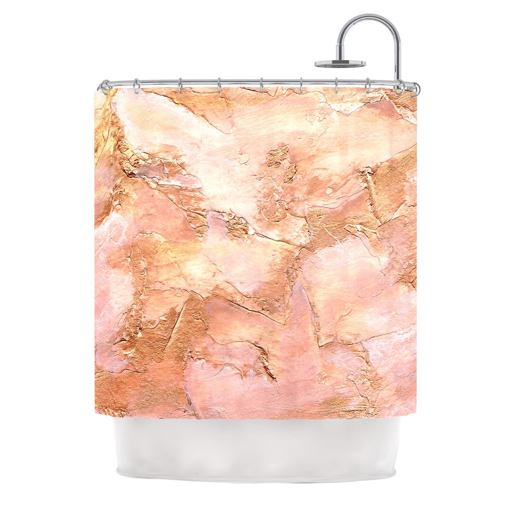 "Rosie Brown ""Bronze It"" Orange Paint Shower Curtain - KESS InHouse"