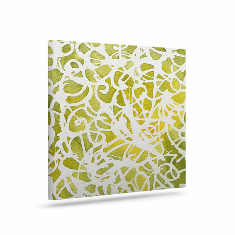 "Rosie Brown ""Spiral"" Green Abstract Canvas Art - KESS InHouse  - 1"
