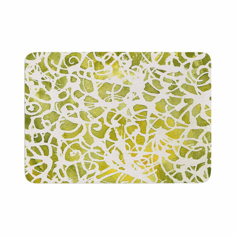 "Rosie Brown ""Spiral"" Green Abstract Memory Foam Bath Mat - KESS InHouse"