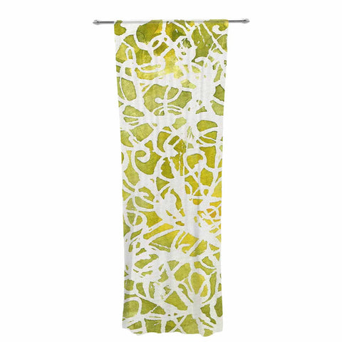 "Rosie Brown ""Spiral"" Green Abstract Decorative Sheer Curtain - KESS InHouse  - 1"