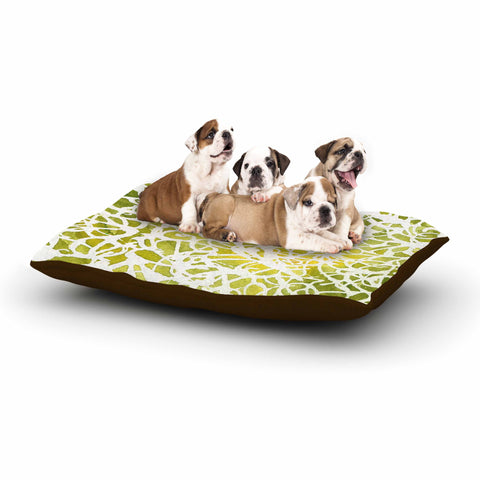 "Rosie Brown ""Spiral"" Green Abstract Dog Bed - KESS InHouse  - 1"