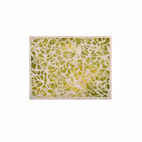 "Rosie Brown ""Spiral"" Green Abstract KESS Naturals Canvas (Frame not Included) - KESS InHouse  - 1"