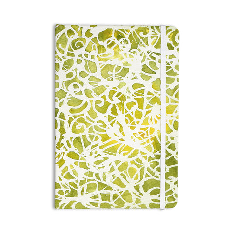 "Rosie Brown ""Spiral"" Green Abstract Everything Notebook - KESS InHouse  - 1"