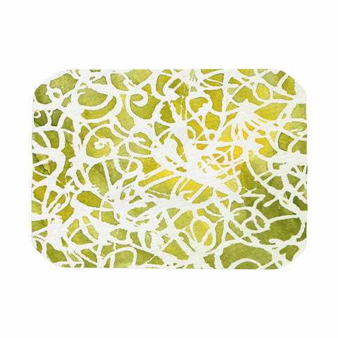 "Rosie Brown ""Spiral"" Green Abstract Place Mat - KESS InHouse"