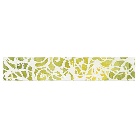 "Rosie Brown ""Spiral"" Green Abstract Table Runner - KESS InHouse  - 1"