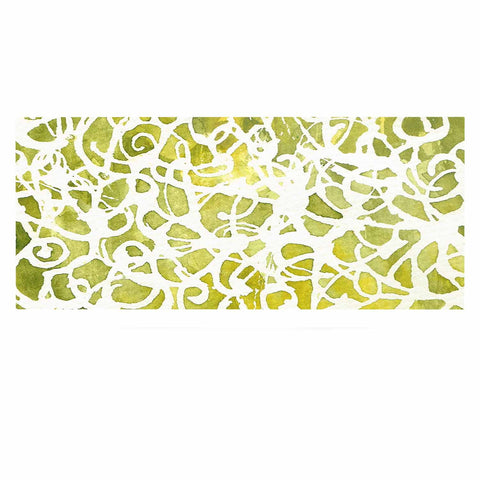 "Rosie Brown ""Spiral"" Green Abstract Luxe Rectangle Panel - KESS InHouse  - 1"