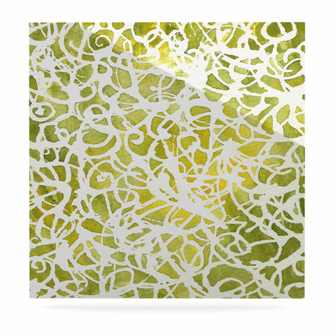 "Rosie Brown ""Spiral"" Green Abstract Luxe Square Panel - KESS InHouse  - 1"