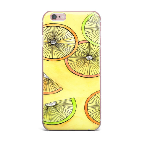 "Rosie Brown ""Lemons And Limes"" Yellow Fruit iPhone Case - KESS InHouse"
