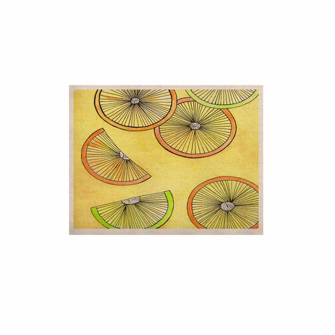 "Rosie Brown ""Lemons And Limes"" Yellow Fruit KESS Naturals Canvas (Frame not Included) - KESS InHouse  - 1"