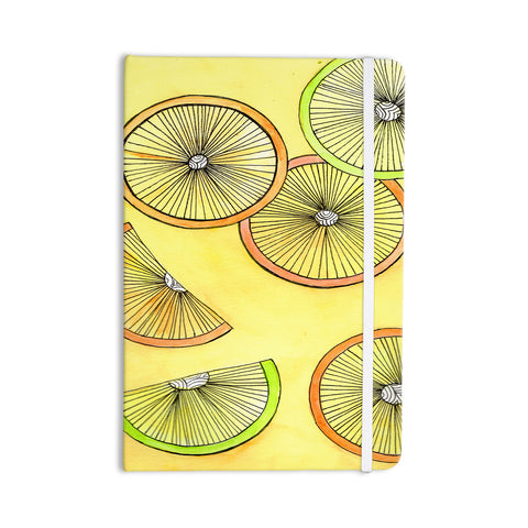 "Rosie Brown ""Lemons And Limes"" Yellow Fruit Everything Notebook - KESS InHouse  - 1"